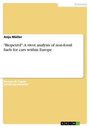 'Biopetrol': A swot analysis of non-fossil fuels for cars within Europe