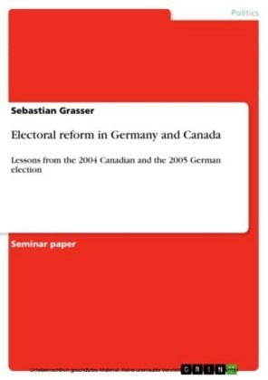 Electoral reform in Germany and Canada