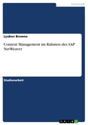 Content Management im Rahmen des SAP NetWeaver