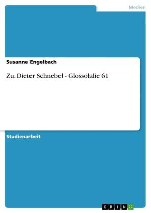 Zu: Dieter Schnebel - Glossolalie 61