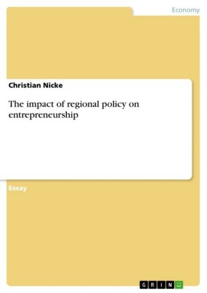The impact of regional policy on entrepreneurship