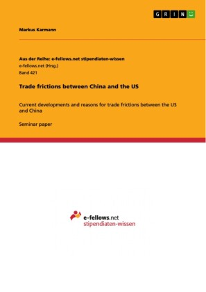 Trade frictions between China and the US
