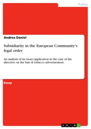 Subsidiarity in the European Community's legal order