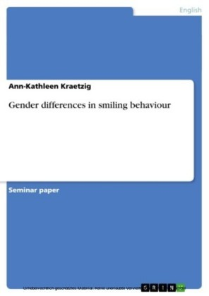 Gender differences in smiling behaviour
