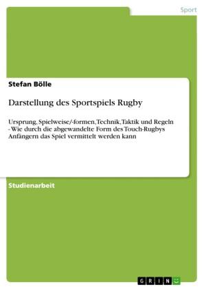 Darstellung des Sportspiels Rugby
