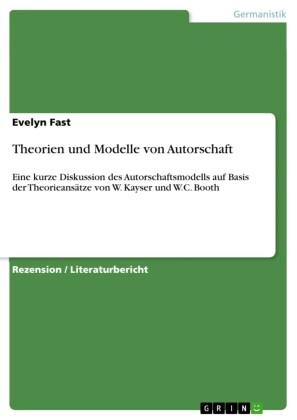 Theorien und Modelle von Autorschaft