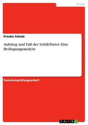 Aufstieg und Fall der Schill-Partei: Eine Bedingungsanalyse