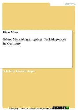 Ethno Marketing targeting - Turkish people in Germany