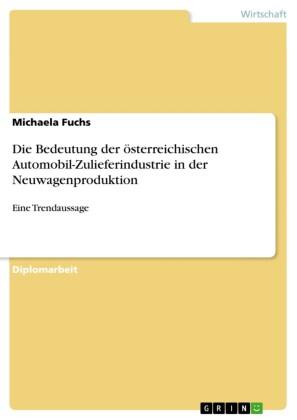 Die Bedeutung der österreichischen Automobil-Zulieferindustrie in der Neuwagenproduktion