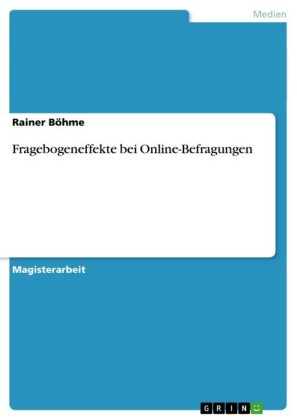 Fragebogeneffekte bei Online-Befragungen