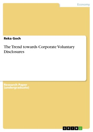 The Trend towards Corporate Voluntary Disclosures
