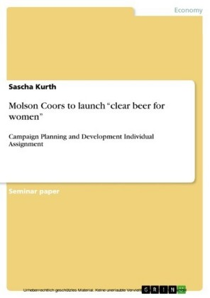 Molson Coors to launch 'clear beer for women'