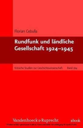Rundfunk und ländliche Gesellschaft 1924-1945