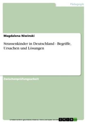 Strassenkinder in Deutschland - Begriffe, Ursachen und Lösungen