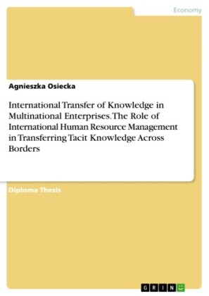 International Transfer of Knowledge in Multinational Enterprises. The Role of International Human Resource Management in Transferring Tacit Knowledge Across Borders