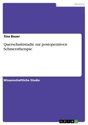 Querschnittstudie zur postoperativen Schmerztherapie