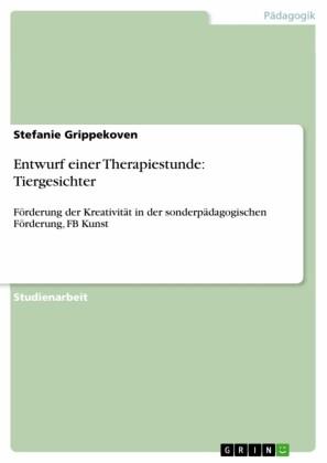 Entwurf einer Therapiestunde: Tiergesichter