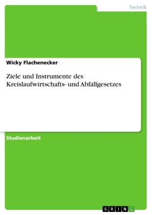 Ziele und Instrumente des Kreislaufwirtschafts- und Abfallgesetzes