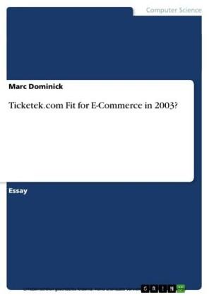 Ticketek.com Fit for E-Commerce in 2003?