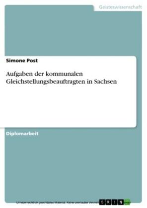 Aufgaben der kommunalen Gleichstellungsbeauftragten in Sachsen