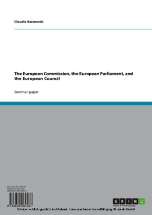 The European Commission, the European Parliament, and the European Council