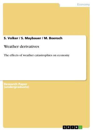 Weather derivatives