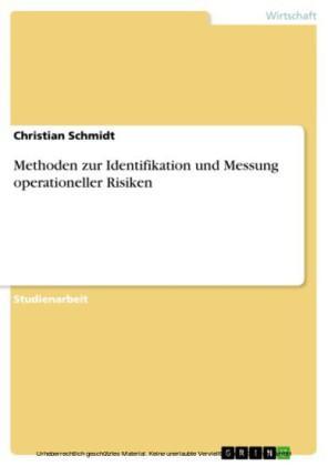 Methoden zur Identifikation und Messung operationeller Risiken