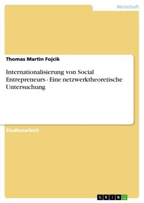 Internationalisierung von Social Entrepreneurs