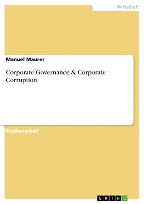 Corporate Governance & Corporate Corruption