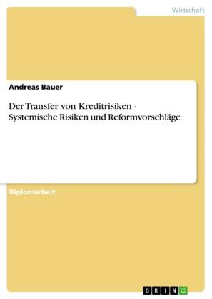 Der Transfer von Kreditrisiken - Systemische Risiken und Reformvorschläge