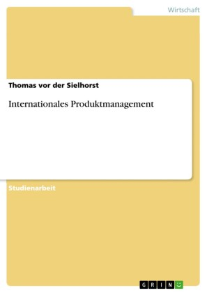 Internationales Produktmanagement