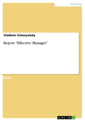 Report 'Effective Manager'