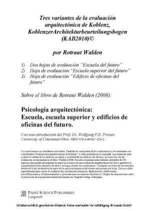 Tres variantes de la evaluación arquitectónica de Koblenz, Koblenzer Architekturbeurteilungsbogen (KAB2010)©