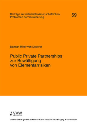 Public Private Partnerships zur Bewältigung von Elementarrisiken