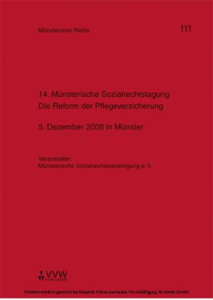 14. Münsterische Sozialrechtstagung