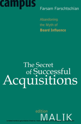 The Secret of Successful Acquisitions