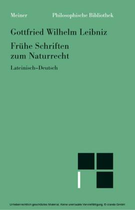 Frühe Schriften zum Naturrecht