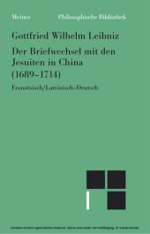 Der Briefwechsel mit den Jesuiten in China (1689-1714)
