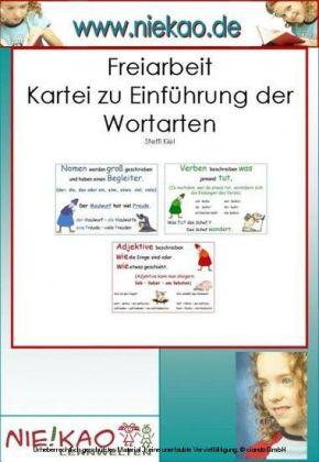 Freiarbeit - Kartei Wortarten - Kompetenzen entwickeln