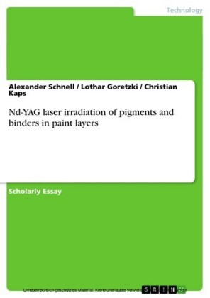 Nd-YAG laser irradiation of pigments and binders in paint layers