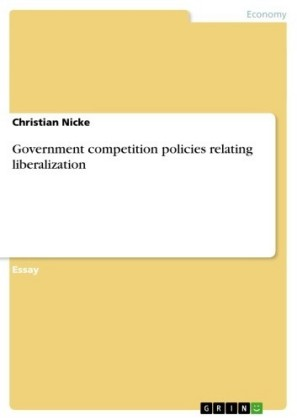 Government competition policies relating liberalization