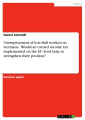 Unemployment of low-skill workers in Germany - Would an earned income tax implemented on the EU level help to strengthen their position?