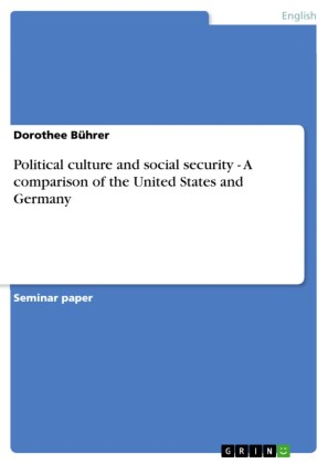 Political culture and social security - A comparison of the United States and Germany