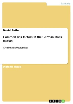 Common risk factors in the German stock market