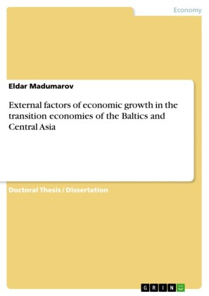 External factors of economic growth in the transition economies of the Baltics and Central Asia