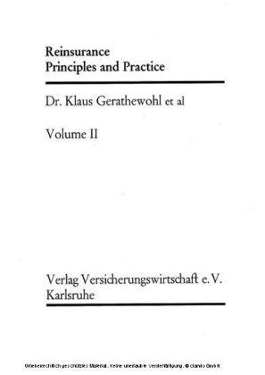 Reinsurance, Principles and Practice Vol. II