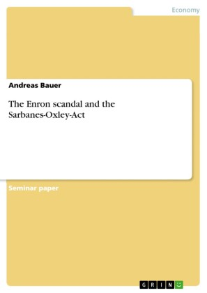 The Enron scandal and the Sarbanes-Oxley-Act