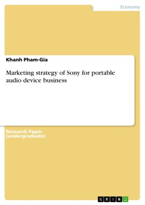 Marketing strategy of Sony for portable audio device business