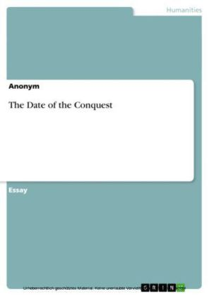The Date of the Conquest