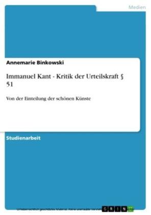 Immanuel Kant - Kritik der Urteilskraft 51